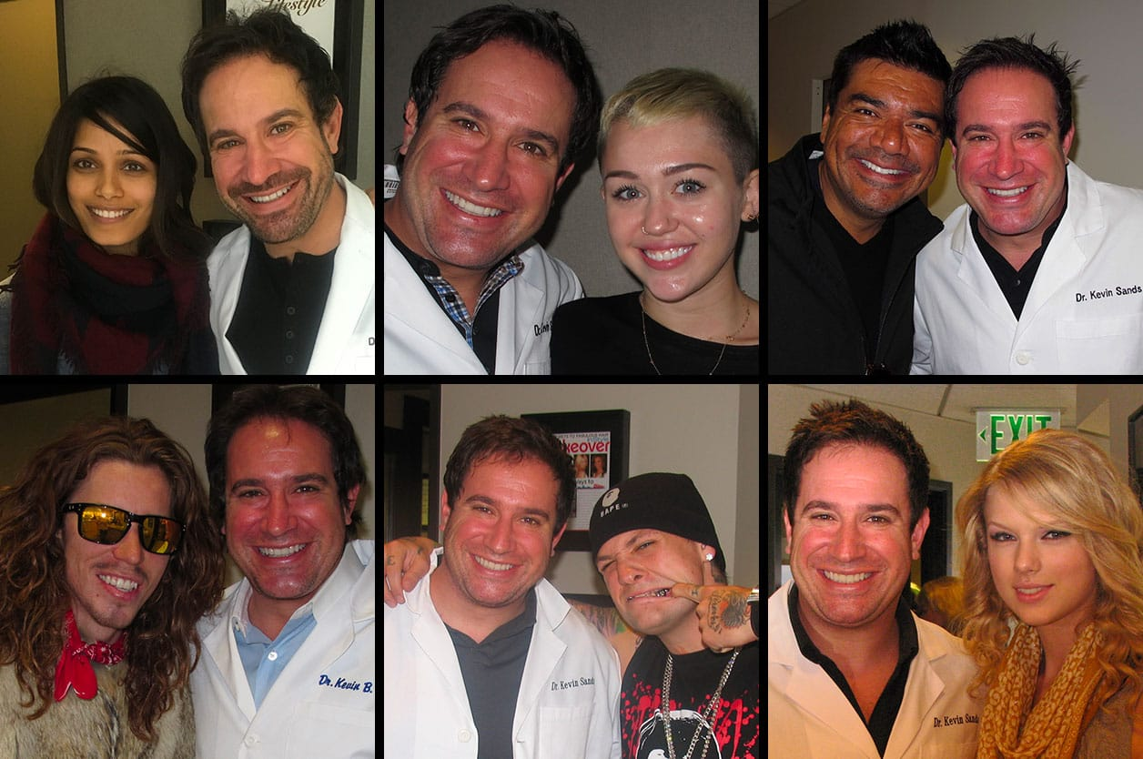 Dr. Sands celebrity clients